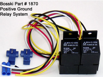 Positive Ground Relay on polaris wiring schematic