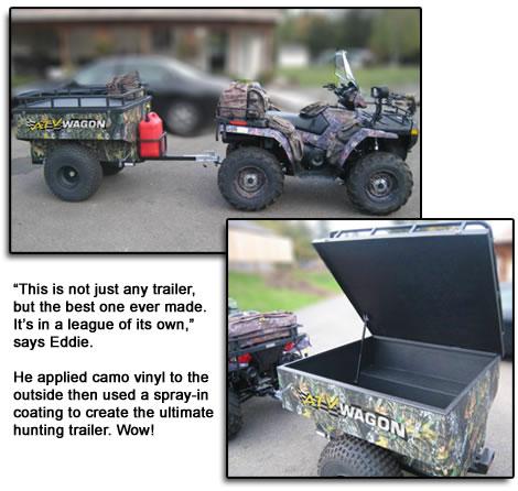 Camo Hunting trailer